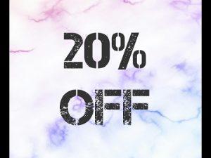 20% off banner